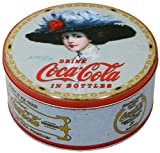 Vintage Round Coca Cola Cake/Cookie Tin ~ Ash Blue