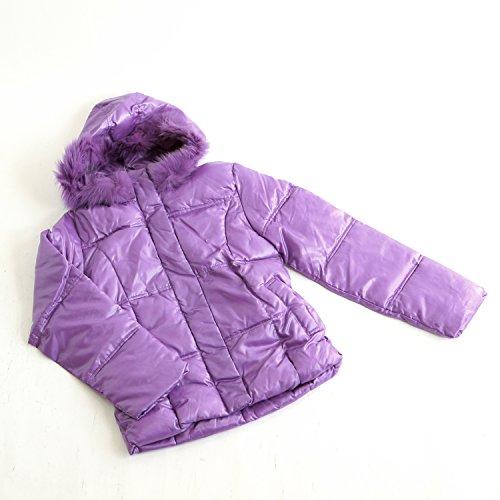 ETHIQUE-confection フード付きジャケット 紫 中綿入り サイズM