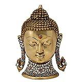 Redbag Lord Gautam Buddha Brass Head ( 28.58 Cm, 20.32 Cm, 13.34 Cm )