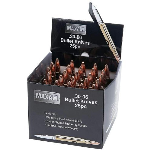 Maxam® 25Pc Gold-Tone Bullet Knives In Countertop Display
