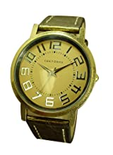 TokyoBay Platform Leather Watch in Metallic Gold