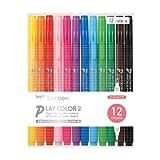 トンボ鉛筆 水性ペン プレイカラー2 12色 GCB-011
