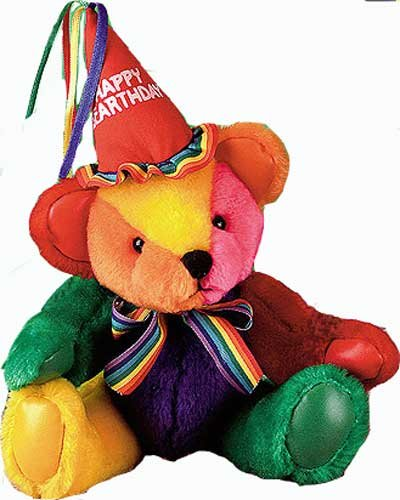 First & Main 1344 9in Rainbow Birthday Bear