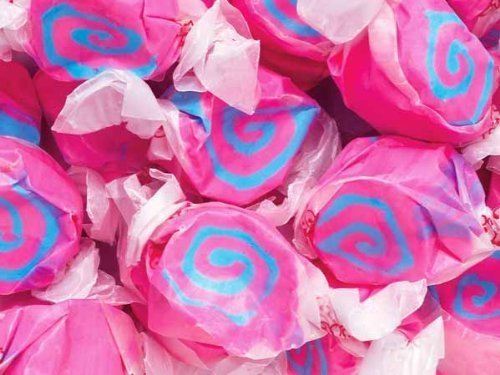 Cotton Candy Pink & Blue Gourmet Salt Water Taffy 1 Pound Bag by Taffy Town (Blue Salt Water Taffy 1lb compare prices)