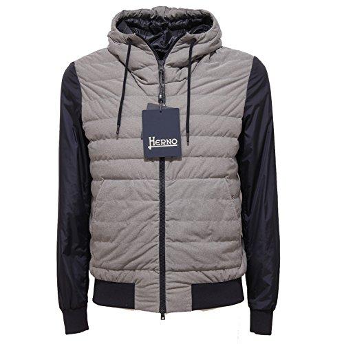 3192Q giubbotto uomo blu grigio HERNO jacket men grey [54]