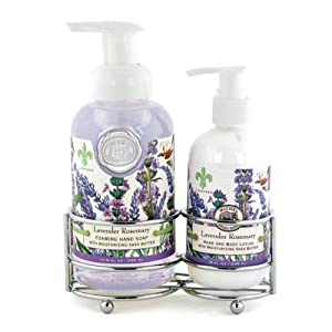 Michel design works hand care soap lotion caddy set Hand wash and lotion caddy