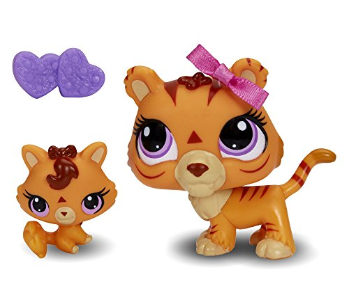 Littlest Pet Shop Figures Orange Tiger & Baby Tiger - 1