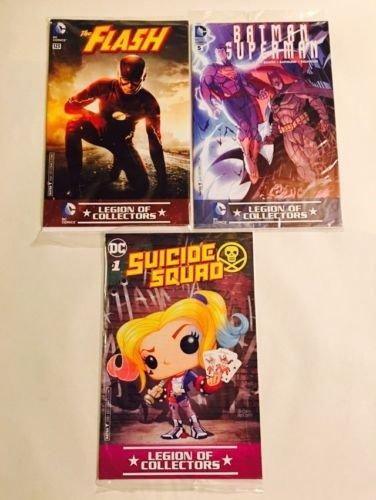 Funko DC Legion of Collectors Comics Batman/Superman + The Flash + Suicide Squad