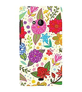 Clipart Floral Design 3D Hard Polycarbonate Designer Back Case Cover for Lumia Lumia 540 :: Microsoft Lumia 540