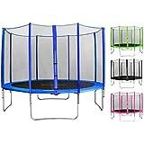 SixBros. SixJump Trampoline de jardin Intertek/GS Filet de sécurité différentes couleurs et tailles 1,85 M - 4,60 M