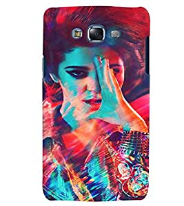 PrintVisa Stylish Cool Girl Fashion 3D Hard Polycarbonate Designer Back Case Cover for Samsung Galaxy J7