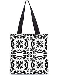 Snoogg Circles Pattern Grey Digitally Printed Utility Tote Bag Handbag Made Of Poly Canvas
