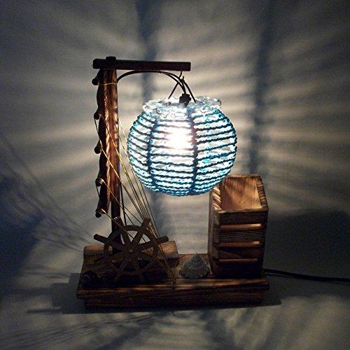 Creativo legno comodino illuminazione tavolo lampada tavolo lampada cintura penna titolare complementi d'arredo