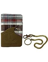 Apki Needs Long Brown Mens Wallet & Golden Chain Keychain Combo