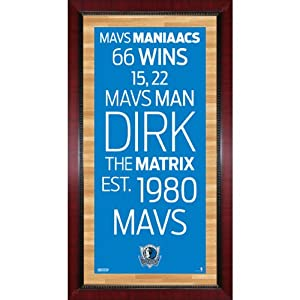 NBA Dallas Mavericks Framed 16x32 Subway Sign Wall Art Photo by Steiner Sports