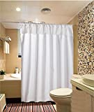 Home-Sets High-Quality Fabric Shower Curtain , 72-inch by 72-inch, Top Single Lace