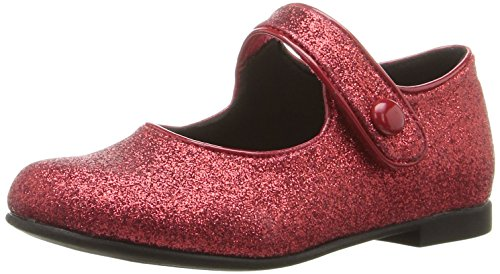 Rachel Shoes Girls' Lil Halle Mary Jane, Red Glitter, 8 M US Toddler (Shoes For A Lil Girl compare prices)