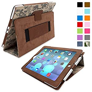 Snugg iPad 3 & 4 Case - Smart Cover with Flip Stand & Lifetime Guarantee (Digital Camo Leather) for Apple iPad 3 and 4