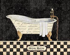 (8x10) French Bathtub I NBL Studio Art Print Poster
