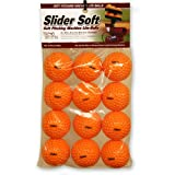 Heater Sports Slider Soft Foam Balls - 2 Pack - 12 Balls Total (Color: Orange, Tamaño: One Size)