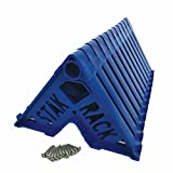 Stak Rack | 4 in 1 Painter's Accessory Tool | Stacking Design | Paint Interior or Exterior Doors, Trim & Kitchen Cabinet Doors| for Contractors & Homeowners (12) (Color: Royal Blue, Tamaño: Stak Rack (Pack of 12))