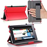 MoKo(TM) Slim-fit Cover Case For Google Nexus 7 Android Tablet By Asus Red (with Automatic Sleep/Wake Function...