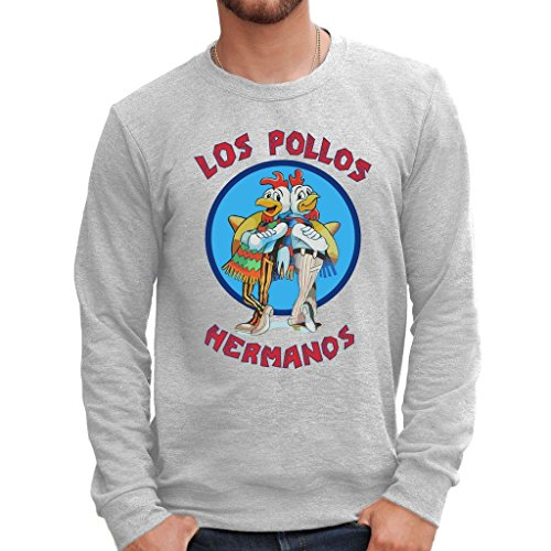 Felpa girocollo LOS POLLOS HERMANOS BREAKING BAD - FILM by MUSH Dress Your Style - Uomo-M-GRIGIO SPORT