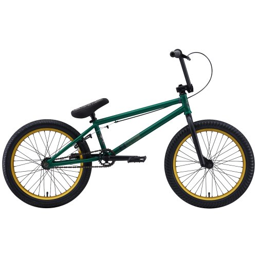 Eastern Bikes Shovelhead 2013 Edition BMX Bike (Matte Green/Gold Rim, 20-Inch)