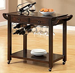 Amazon Korde Kitchen Cart with Handles Wheels by