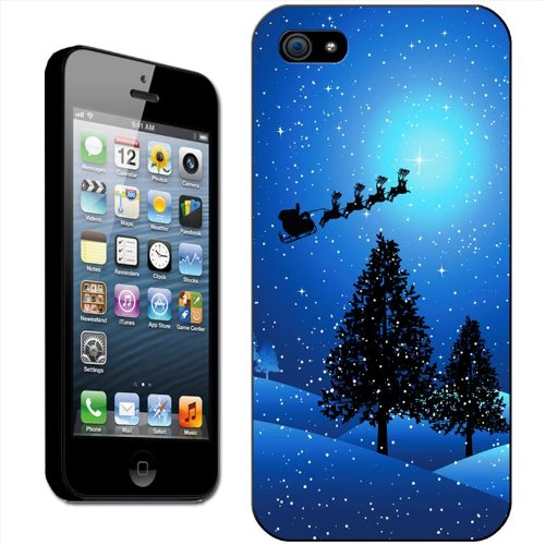 twas-a-starry-snowy-night-santa-on-his-sleigh-hard-case-clip-on-back-cover-for-apple-iphone-5s