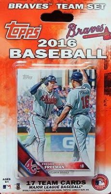 Atlanta Braves 2016 Topps MLB Baseball Factory Sealed Special Edition 17 Card Team Set with Freddie Freeman Plus