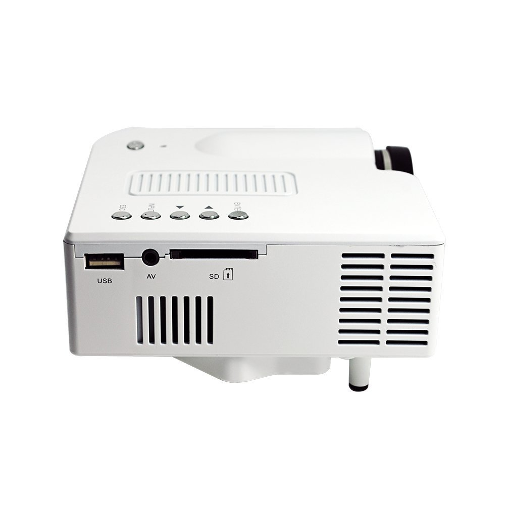 "E-rainbow 60"" Portable Mini Hd LED Projector Cinema Theater,Support PC Laptop HDMI VGA Input and SD + USB + AV Input,for iphone,galaxy,laptop,mac.with Remote Control *White*,Only for home"