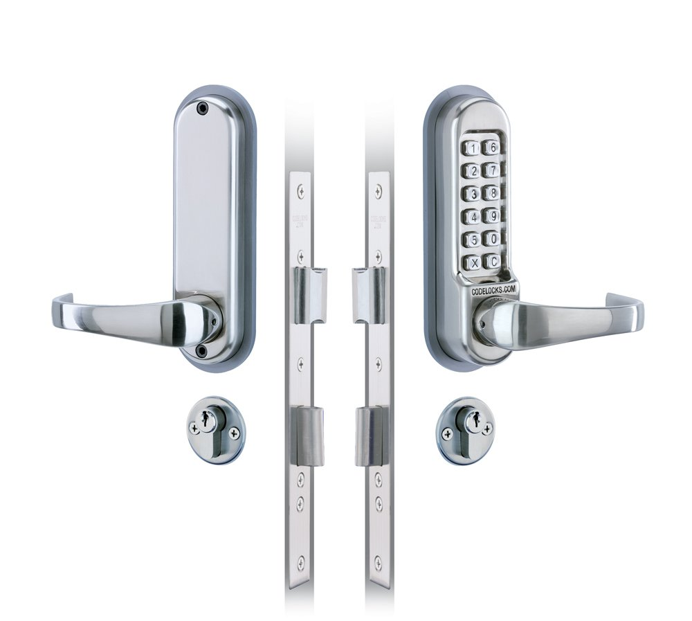 Codelocks Digital Mechanical Pushbutton Mortice Lock Double Cylinder Lever Handle with Anti-Panic Safety Feature