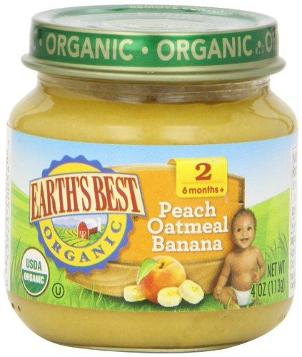 Earth'S Best, Peach Oatmeal Banana, 4 Oz