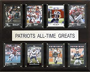 NFL New England Patriots All-Time Greats Plaque by C&I Collectables