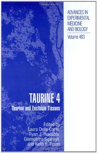 Taurine 4 - Taurine And Excitable Tissues (Advances In Experimental Medicine And Biology Volume 483)
