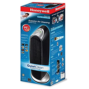 Honeywell HFD-120-Q QuietClean Tower Air Purifier with Permanent Washable Filters, 11 x 10 x 29-Inches