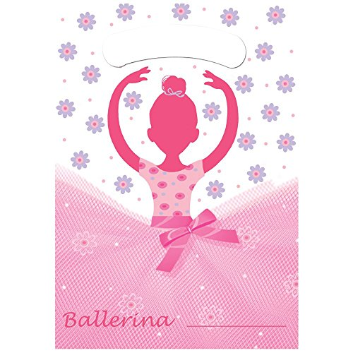 Creative Converting BB021913 Ballerina Party Loot Bags - 8-Pack - 1