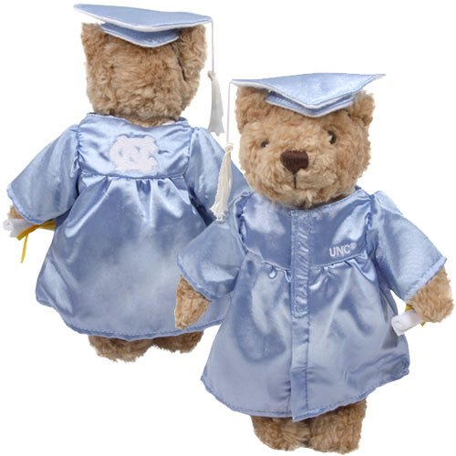 North Carolina Tar Heels (UNC) Carolina Blue Graduation Plush Bear