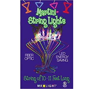 Click to buy Mr. Light 10 Piece Martini Glass Multi Color LED Fiber Optic String Light Set from Amazon!