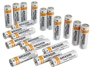 AmazonBasics AA Everyday Alkaline Batteries [Pack of 20]