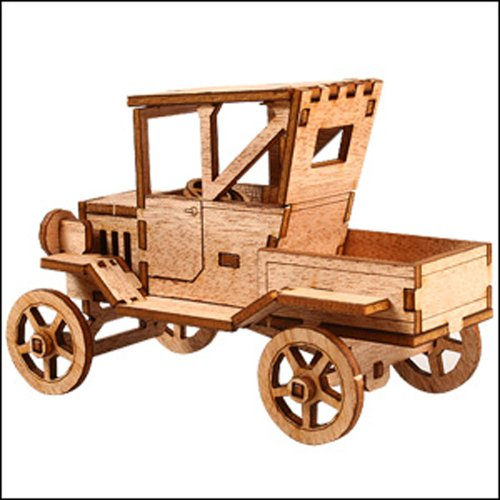 Desktop Wooden Model Kit Ford T Pickup Truck (Ford Models compare prices)
