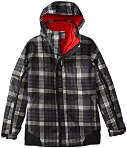 Columbia Boy's Bugaboo Interchange Jacket, Black Plaid, X-Small