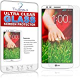 LG G2 Screen Protector - Tempered Glass - Package Includes Microfiber Cleaning Cloth, Installation Tips with Video, Ultra Clear Tempered Glass Screen Protector - Retail Packaging by TruShield