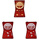 Gold Plated GL Pooja Thali Set And Silver Plated Royal Pooja Thali Set 2 Set