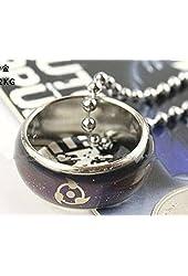 Naruto sharingan black ring necklace