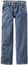 Wrangler Big Boys\' Original ProRodeo Jean, Subtle Worn Denim, 9 Slim