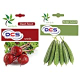 DCS Beetroot Seeds And Ridge Gourd Seeds(Pack Of 2 Per Pack 50 Seeds)