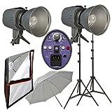 Impact Two Monolight Umbrella/Softbox Kit (120VAC)