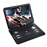 DBPOWER 13.3 Inch Portable DVD Player,270 Degree Swivel Screen, Support Analog TV/USB/Card Reader/ Game/FM Radio,Swivel LCD,RMVB,Built-In Rechargeable Battery